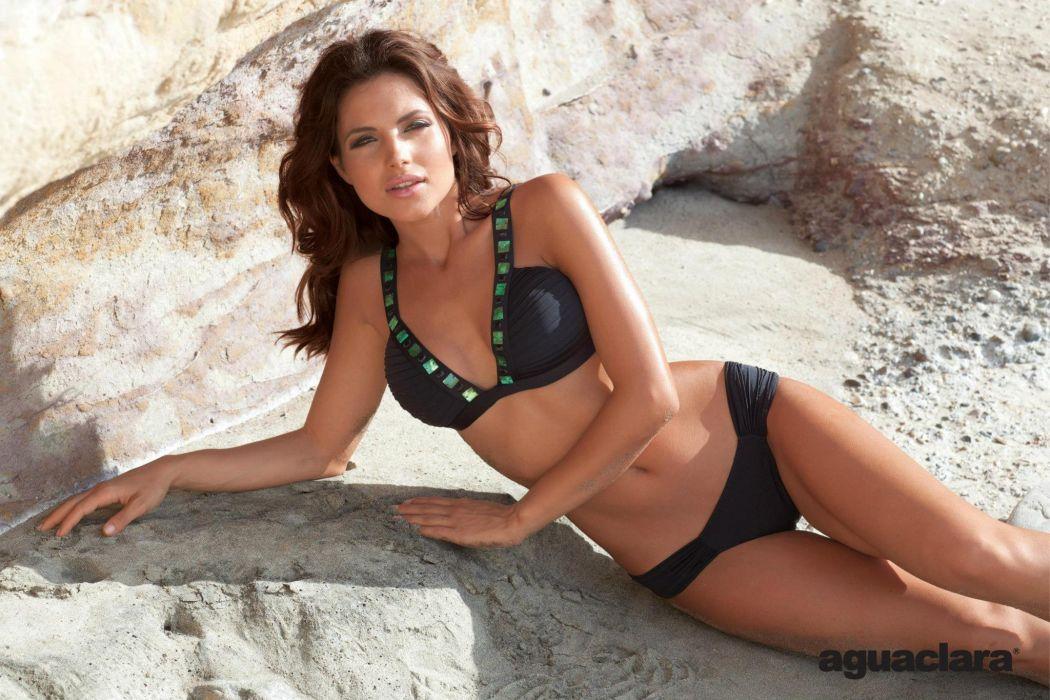 Diana Morales women females fashion glamour models brunettes sexy babes swimwear bikini           l wallpaper