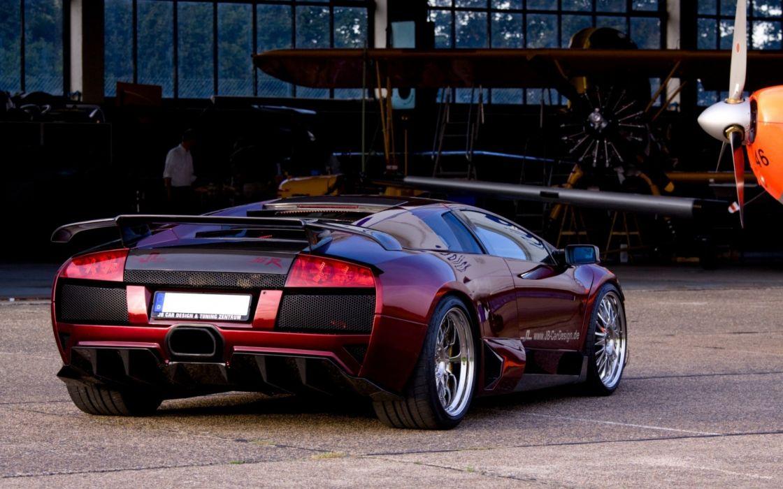 Lamborghini lp640 red murcielago supercars wallpaper