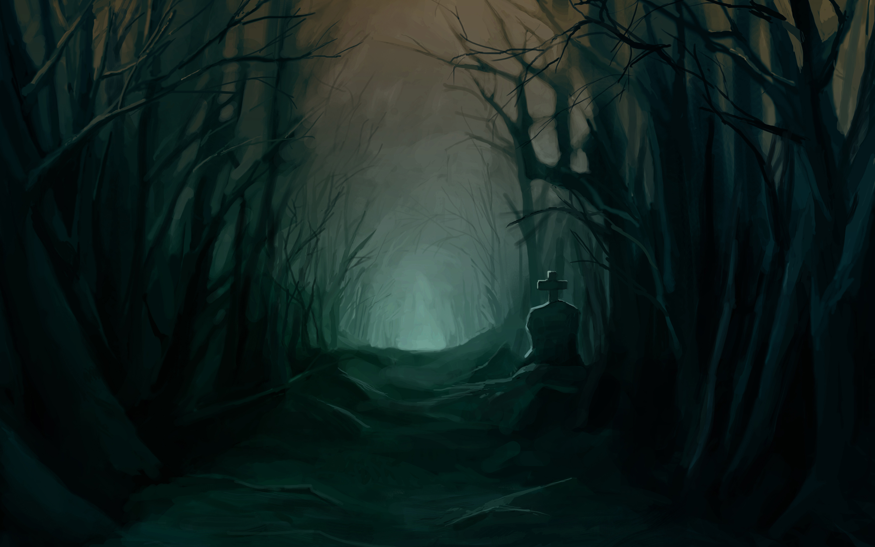 creepy forest wallpaper - Google Search