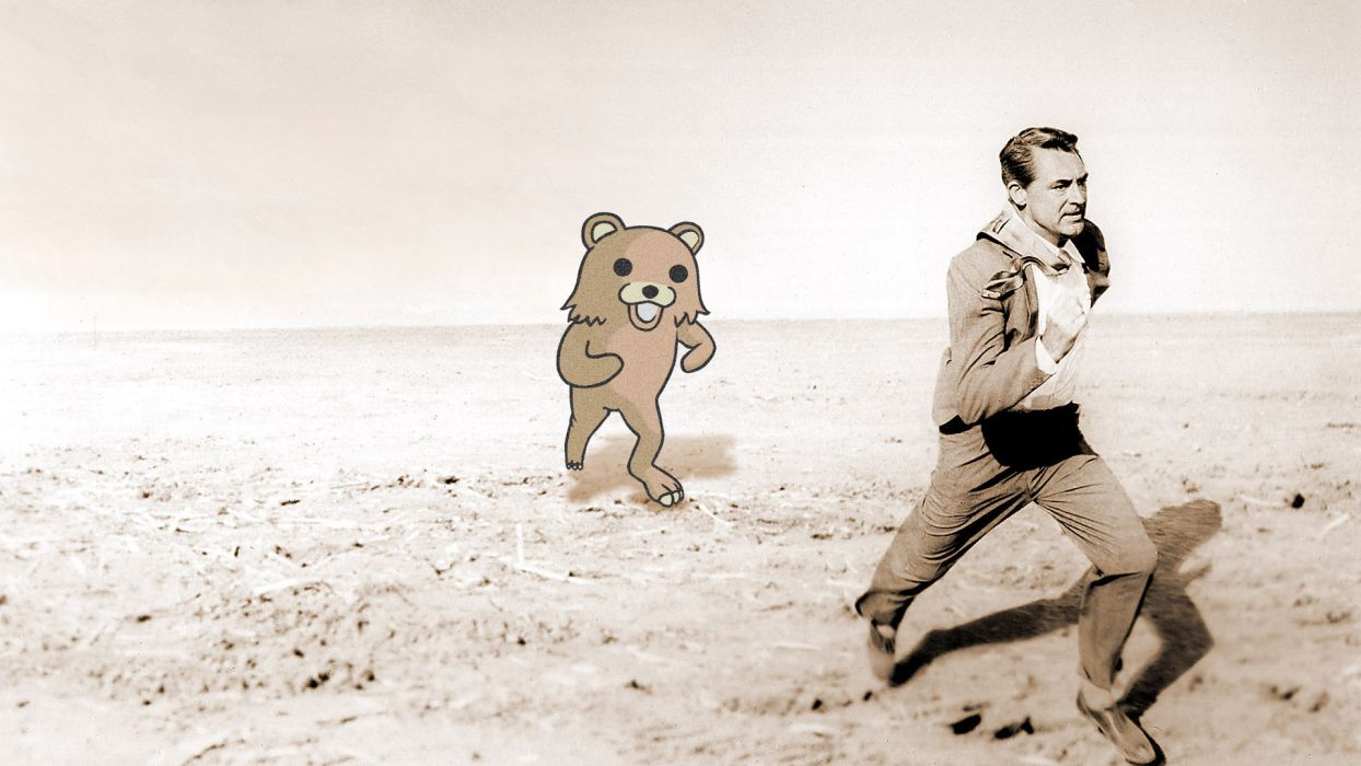 North by Northwest Run Pedobear Meme movies funny humor men males wallpaper