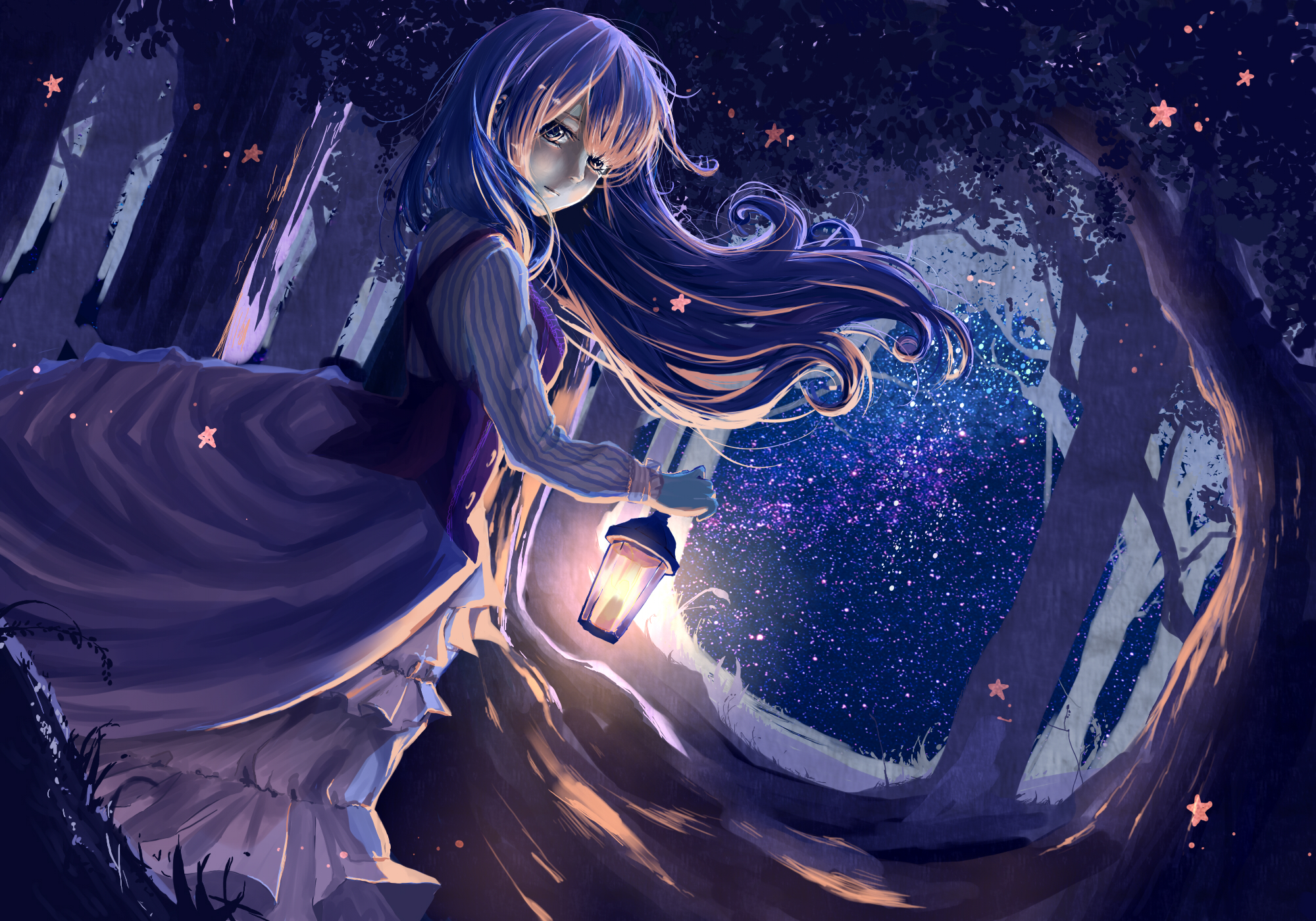 original anime girl lamp light wallpaper backgroundAnime Girl Light Angel