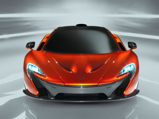 McLaren P1 supercar orange wallpaper