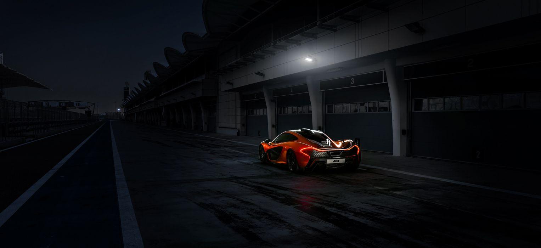 McLaren P1 supercar orange wallpaper