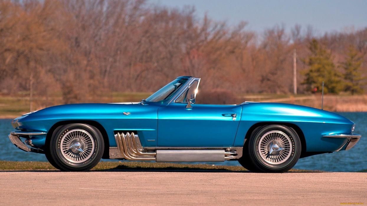1963 Chevrolet Corvette muscle cars supercar blue classic    n wallpaper