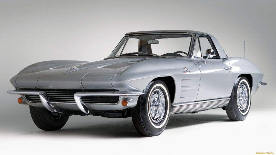 1963 Chevrolet Corvette Sting Ray supercar classic muscle cars wallpaper