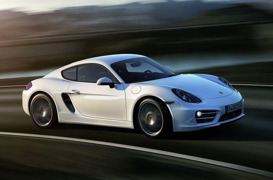 2013 Porsche Cayman sportcar white wallpaper