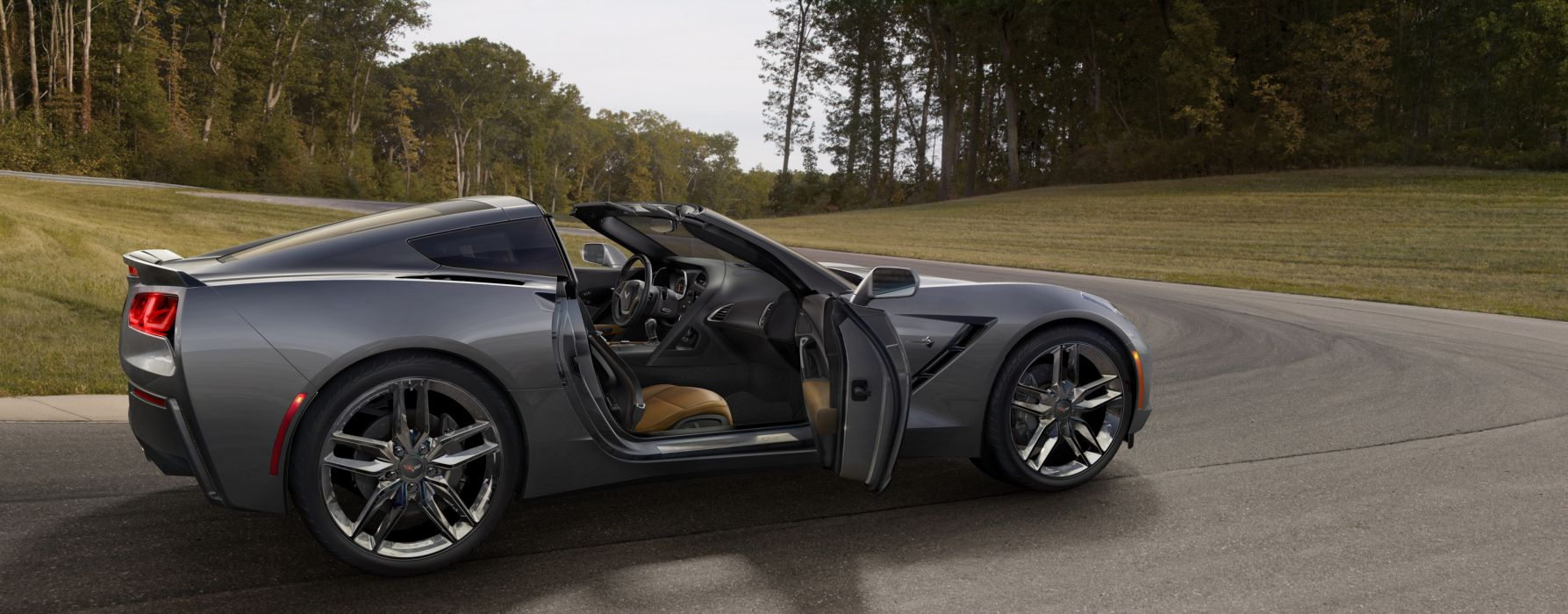 2014 Chevrolet Corvette Stingray supercar charcoal          t wallpaper