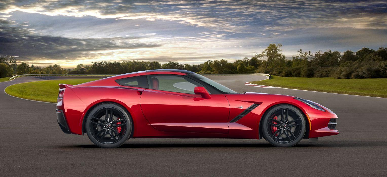 2014 Chevrolet Corvette supercar red sky wallpaper