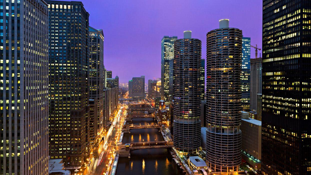 bridge world architecture cities buildings skyscraper lights window rivers wallpaper