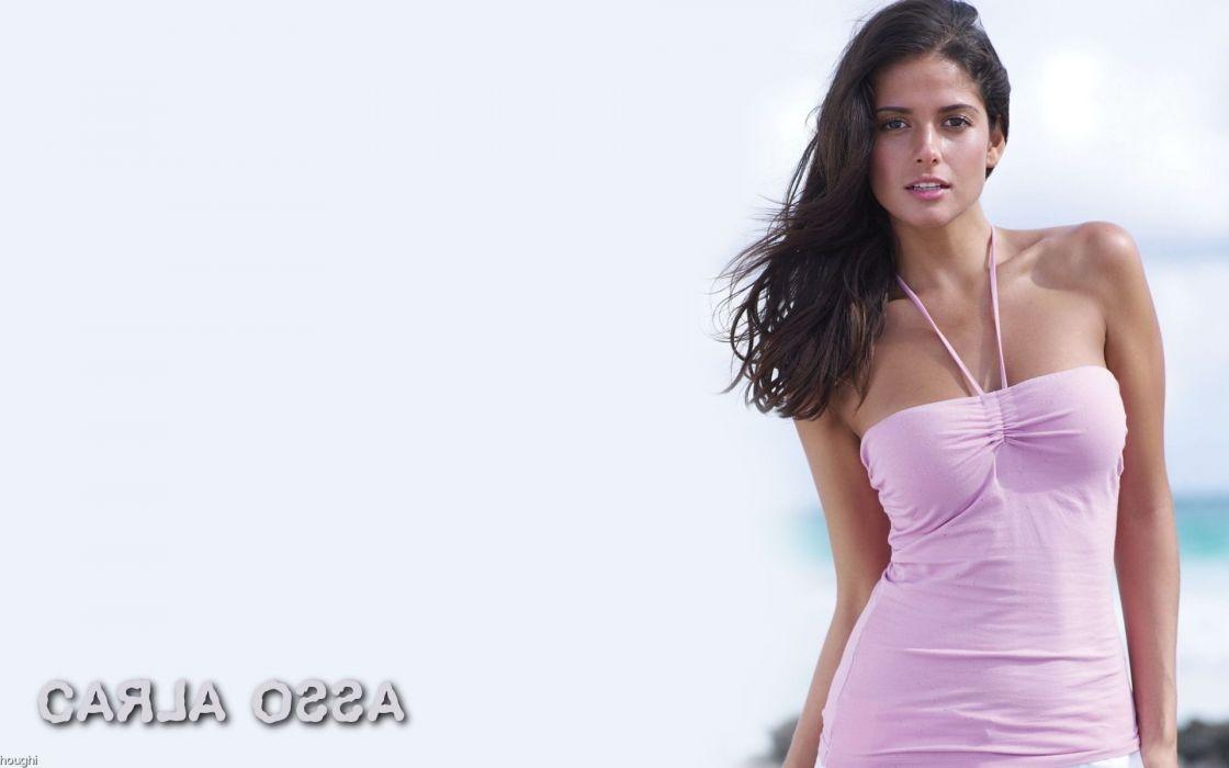 Carla Ossa women females fashion glamour models sexy babes brunettes          n wallpaper