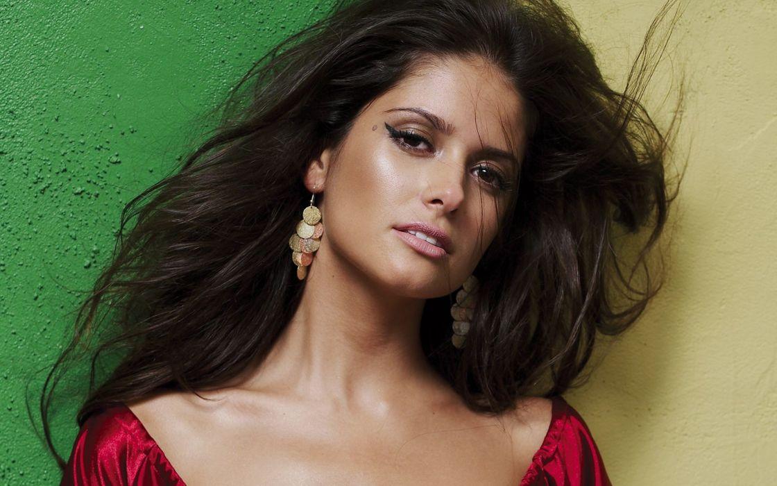 Carla Ossa women females fashion glamour models sexy babes brunettes          v wallpaper