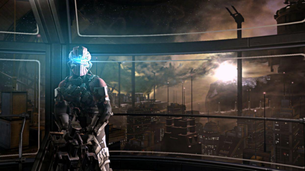 Dead Space 2 Isaac Clarke sci-fi cities warriors armor wallpaper