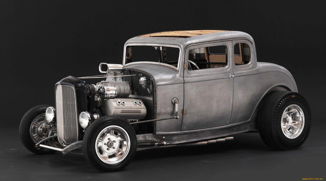 Deuce Coupe Hot Rods Engine Er Retro Rat Wallpaper