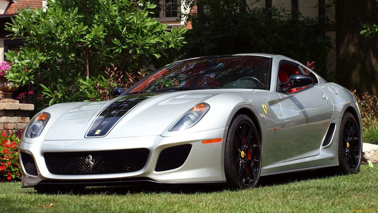 Ferrari 599 gtb fiorano supercar silver tuning wallpaper