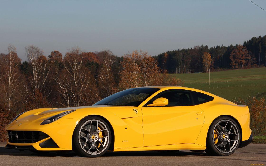 Ferrari F12 Berlinetta Supercar Yellow Wallpaper 2560x1600 43013 Wallpaperup