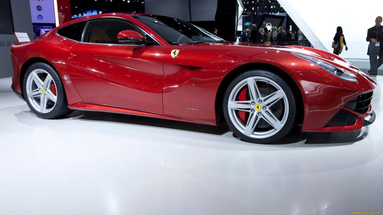 Ferrari F12 supercar red wallpaper