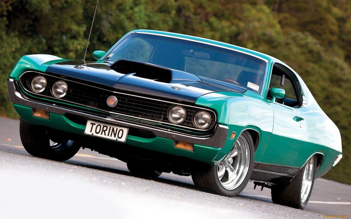 ford gran torino classic muscle cars wallpaper