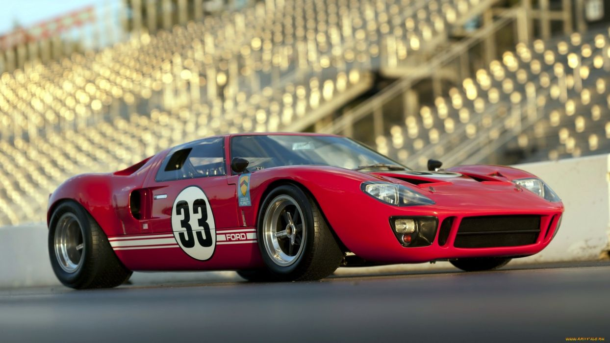 Ford GT40 supercar race cars red track wallpaper