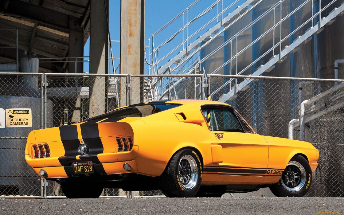 ford maustang muscle cars yellow wallpaper