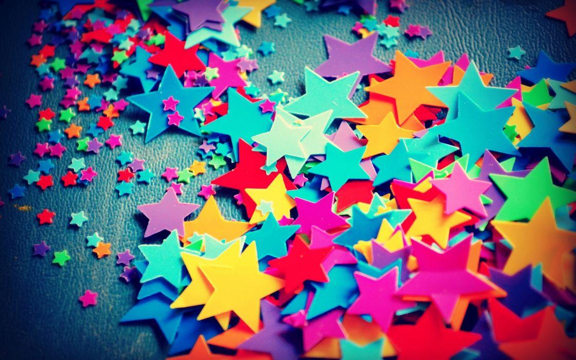 bokeh rainbow stars color texture pattern wallpaper