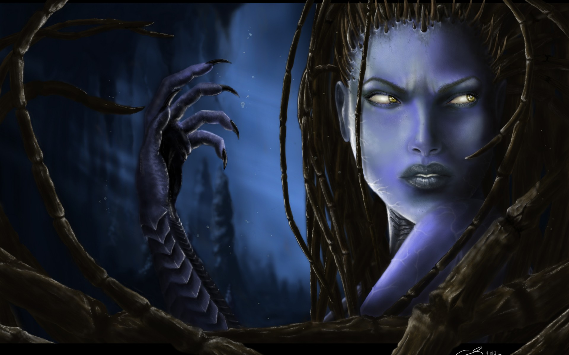 women fantasy eyes blue - photo #43