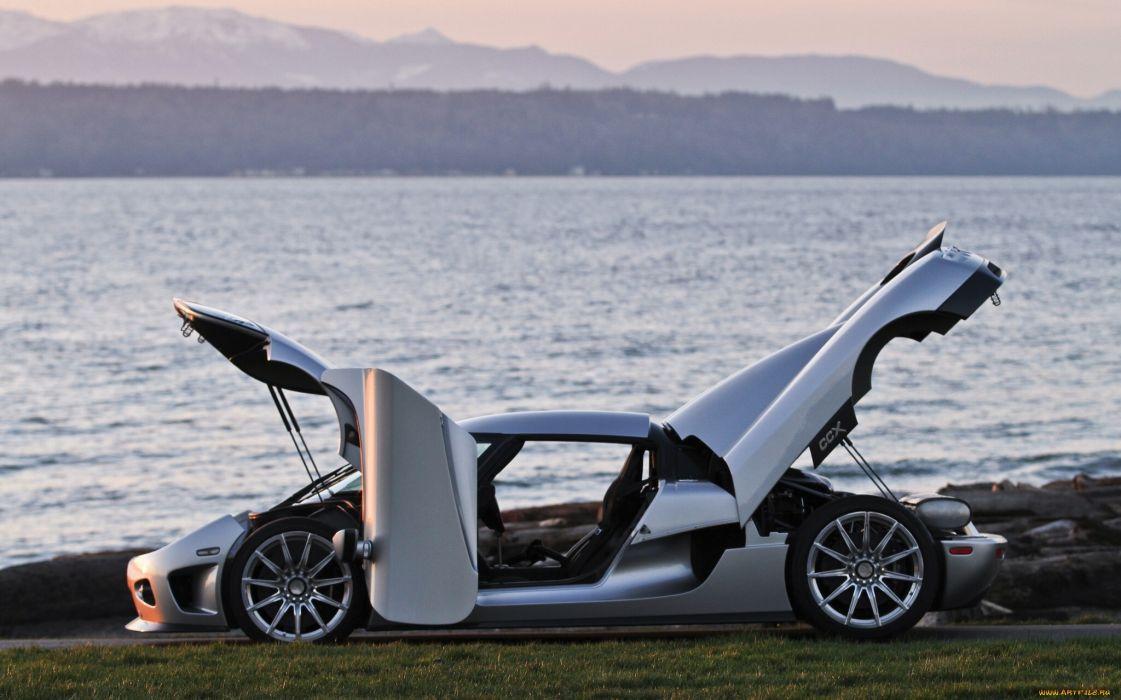 Koenigsegg CCX supercar silver water wallpaper
