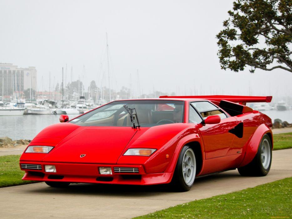 Lamborghini Countach supercar red classic wallpaper