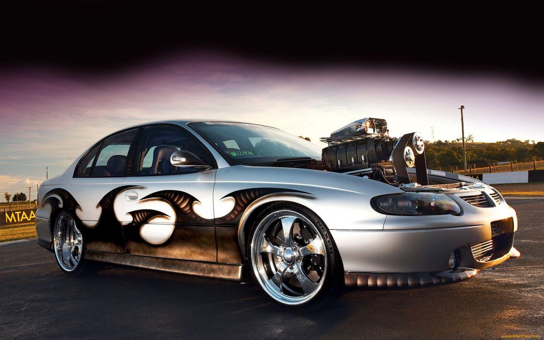 Holden tuning hot rod engine blower wallpaper