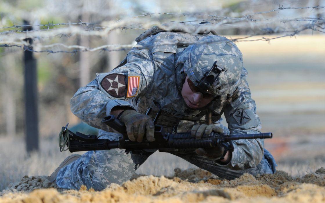 militart warriors soldiers people men males weapons guns assault rifles camo uniform wallpaper