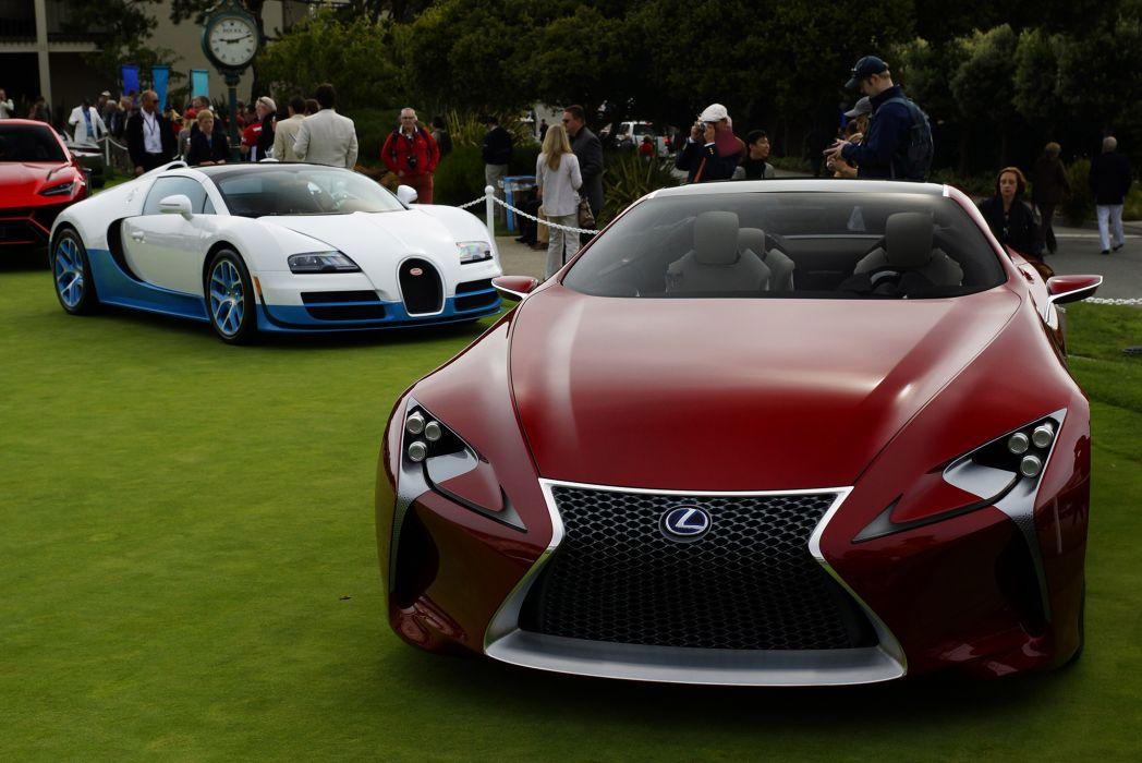 Lexus LF-LC Bugatti Veyron supercar wallpaper