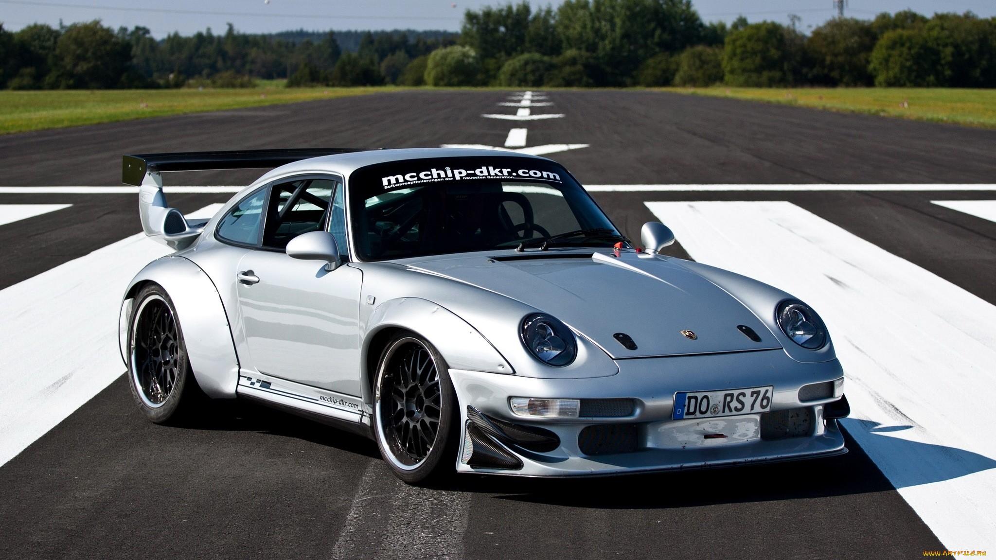 Porsche 911 Carrera Supercar Silver Tuning Wallpaper