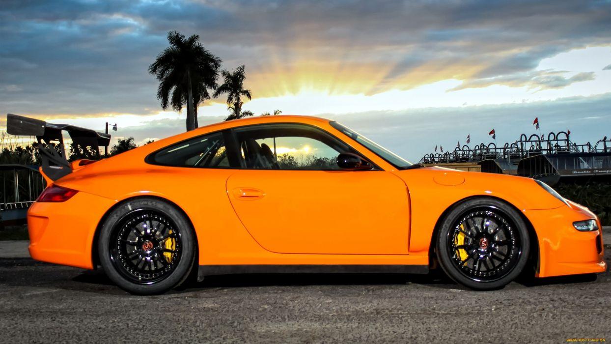 Porsche 911 Gt3 Tuning Orange Sportcar R Wallpaper 2048x1152