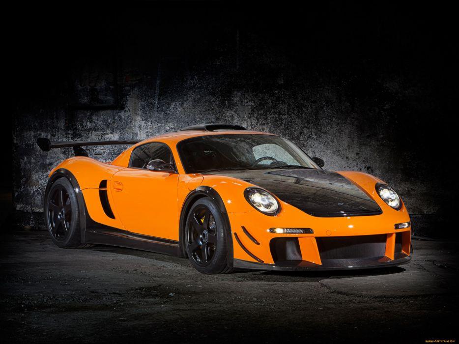 Porsche Ruf CTR-3 Clubsport 777 tuning supercar orange wallpaper