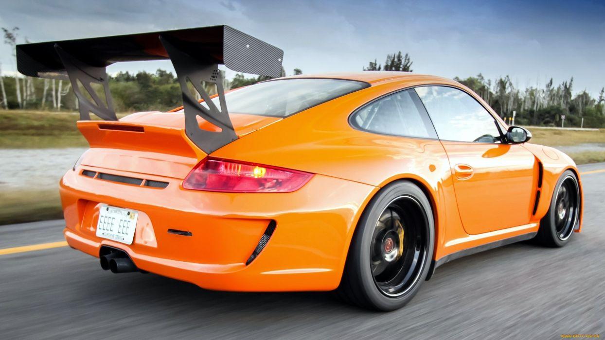 Porsche 911 gt3 tuning orange sportcar        r wallpaper
