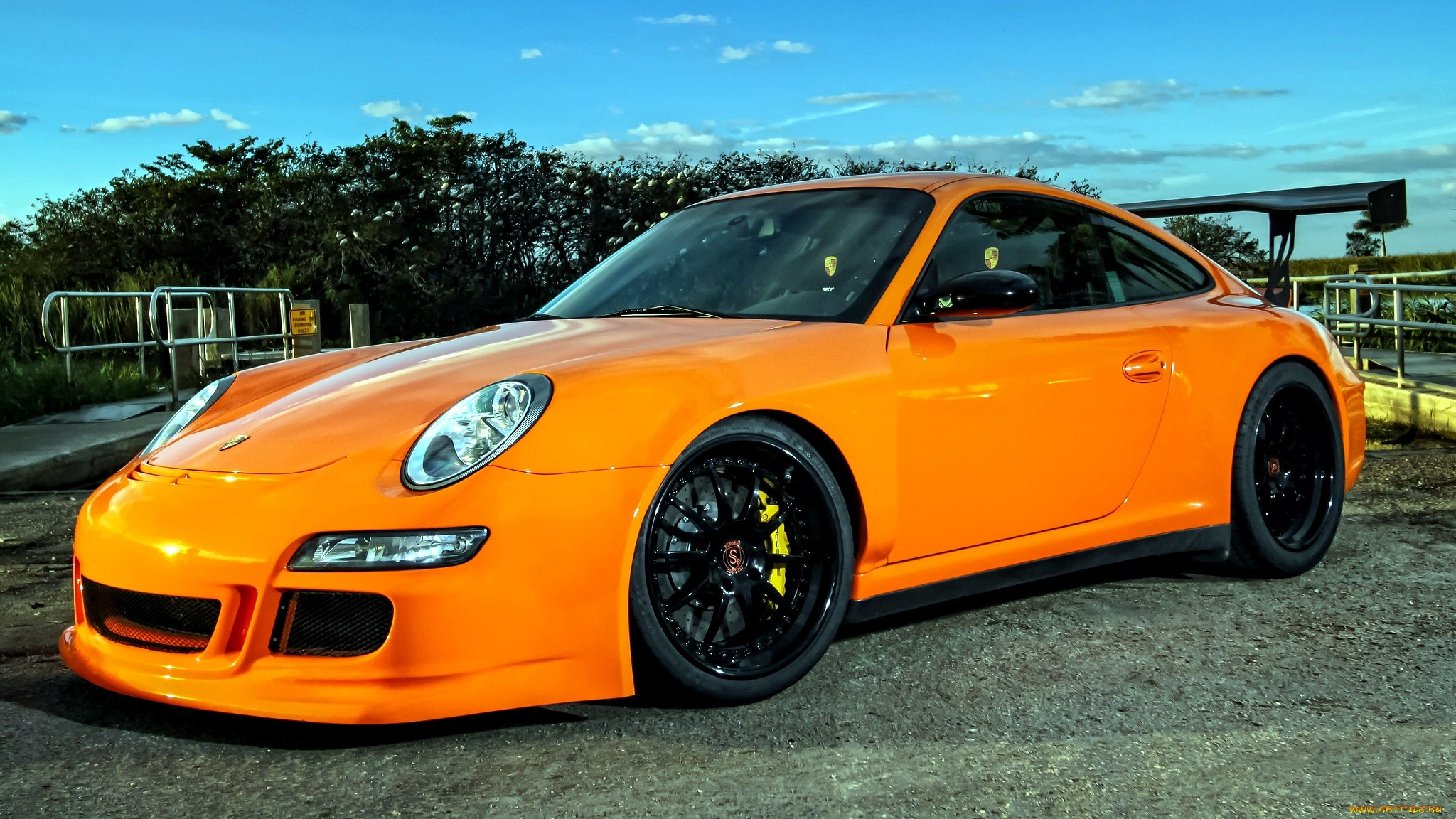 Porsche 911 Gt3 Tuning Orange Sportcar Wallpaper  2048x1152 43247 WallpaperUP