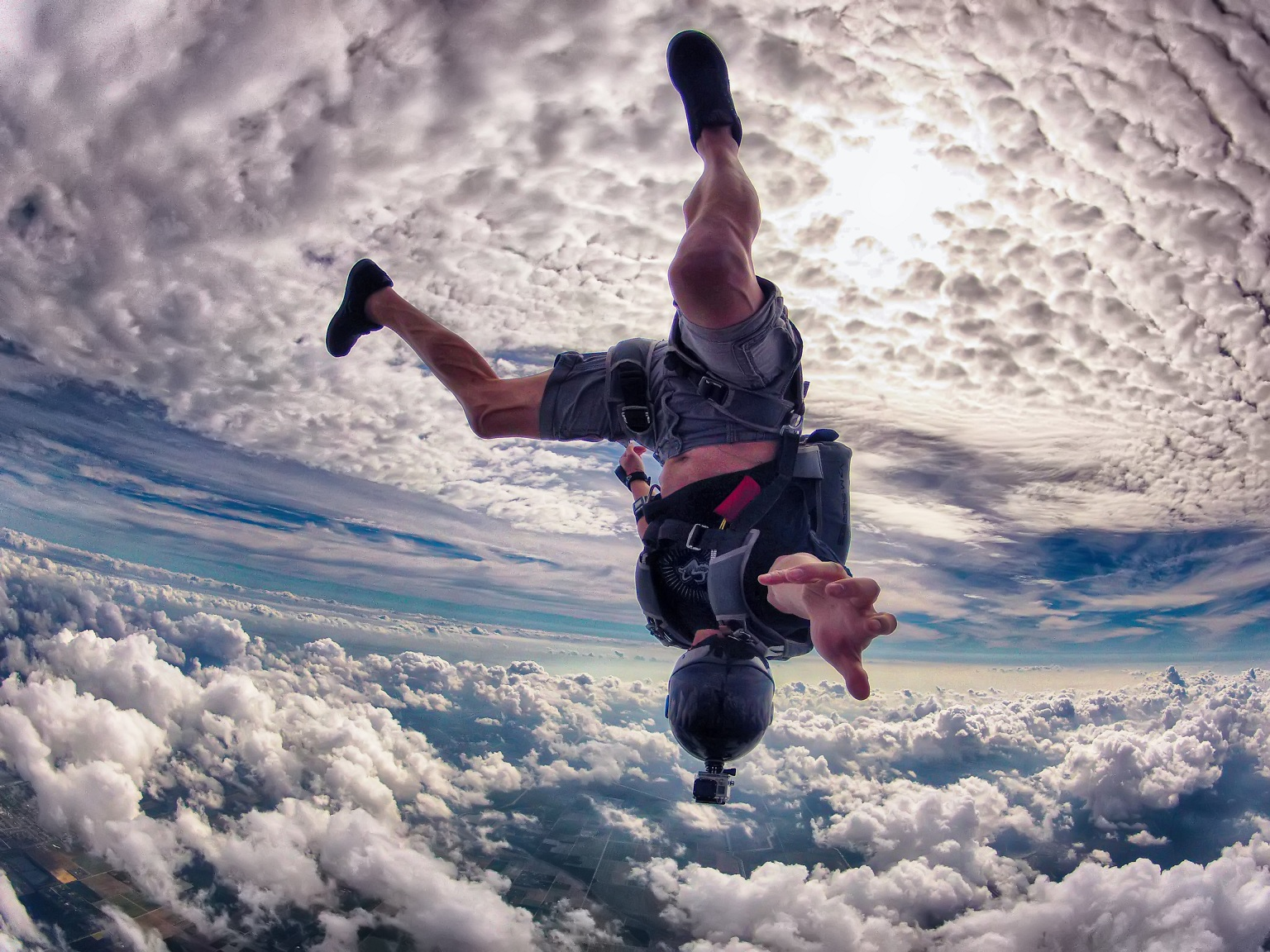 Skydive Free Fall Sports Wallpaper: Skydive Fall Clouds Extreme Sports People Men Males Wind