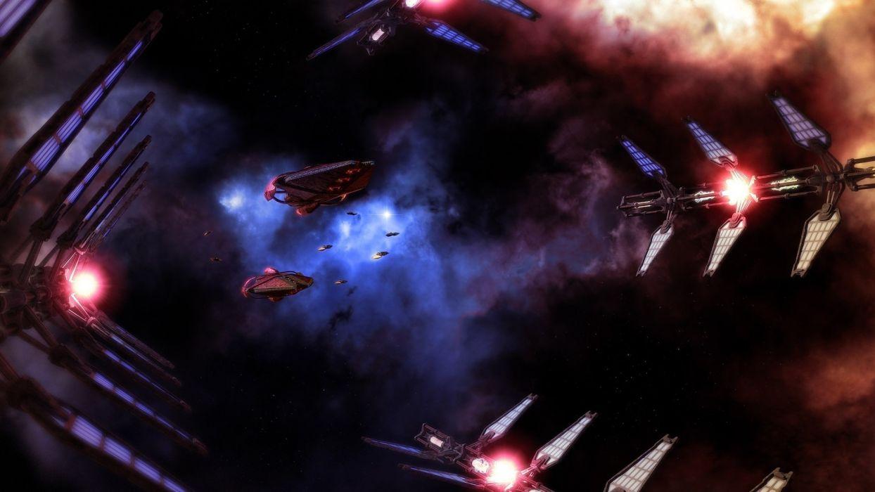 spaceship spacecraft sci-fi space vehicles stars nebula wallpaper