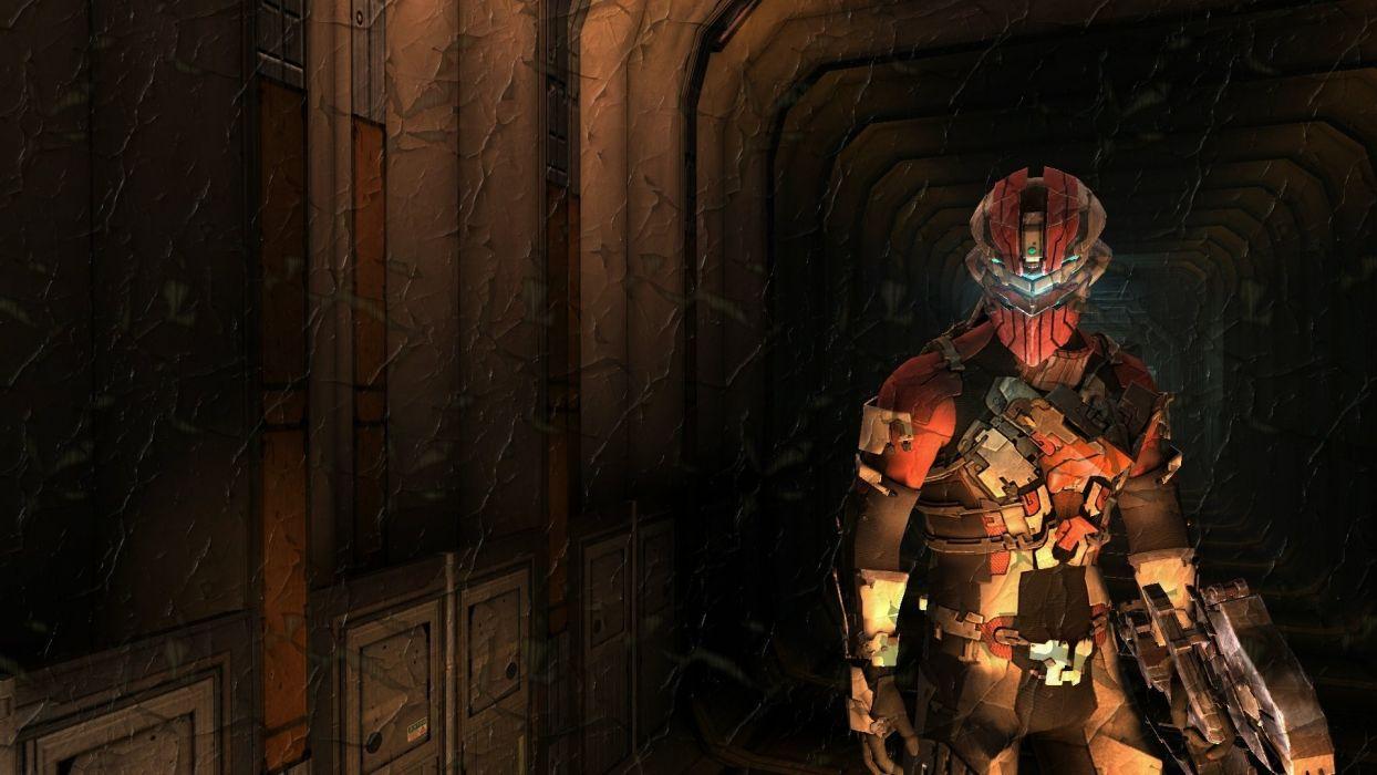 sci-fi Dead Space 2 Isaac Clarke warrior armor weapons wallpaper