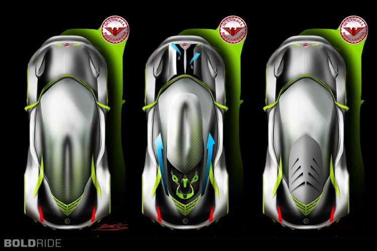 2030 Bizzarrini Veleno Concept by Borys Dabrowski supercar h wallpaper