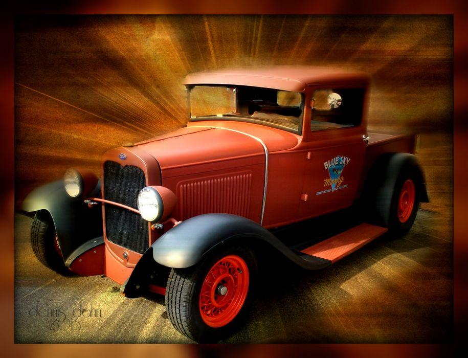 Ford Model A Pickup retro classic hot rods wallpaper