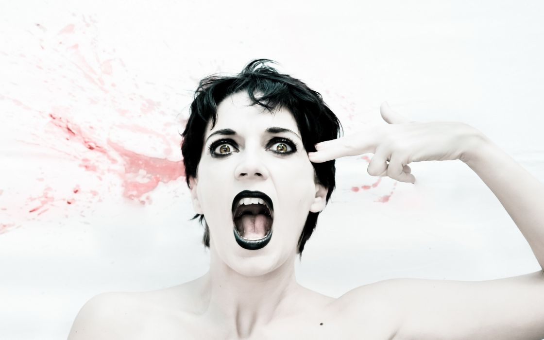 mood screan dark women females girls face eyes pov wallpaper