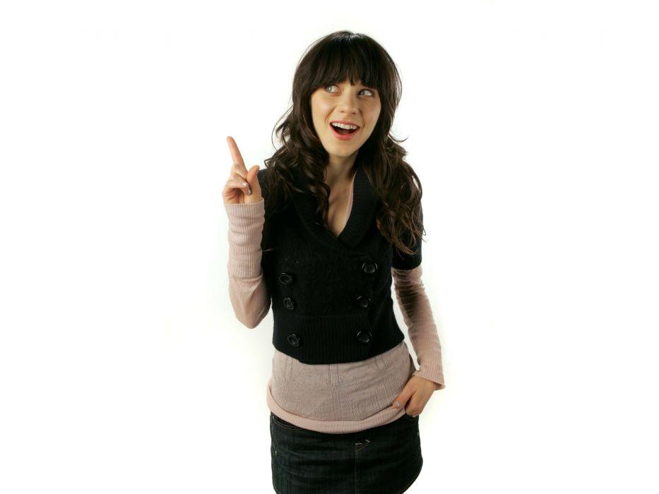 Zooey Deschanel actress women females girls brunettes sexy babes wallpaper