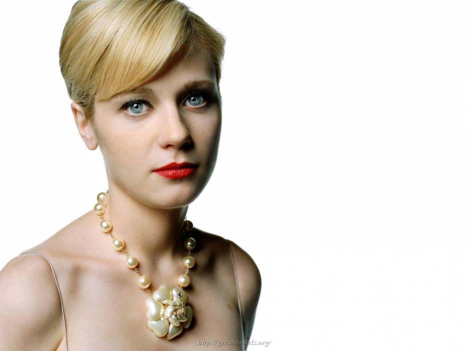 Zooey Deschanel actress women females girls blondes sexy babes face pov      r wallpaper