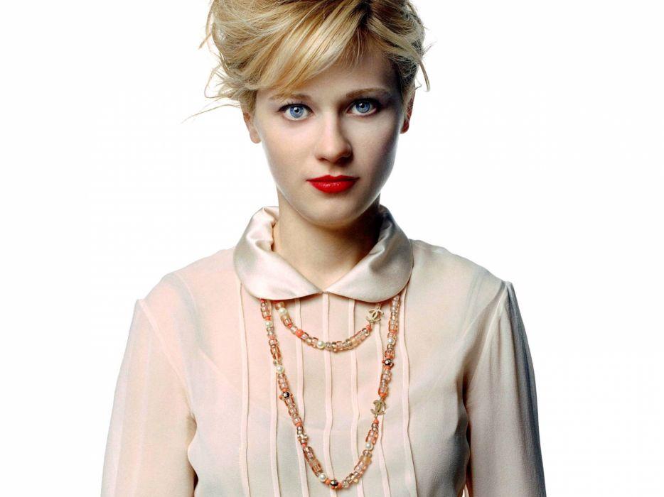 Zooey Deschanel actress women females girls blondes sexy babes face pov wallpaper