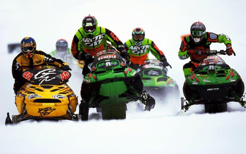 vehicles sports snowmobile racing winter snow wallpaper