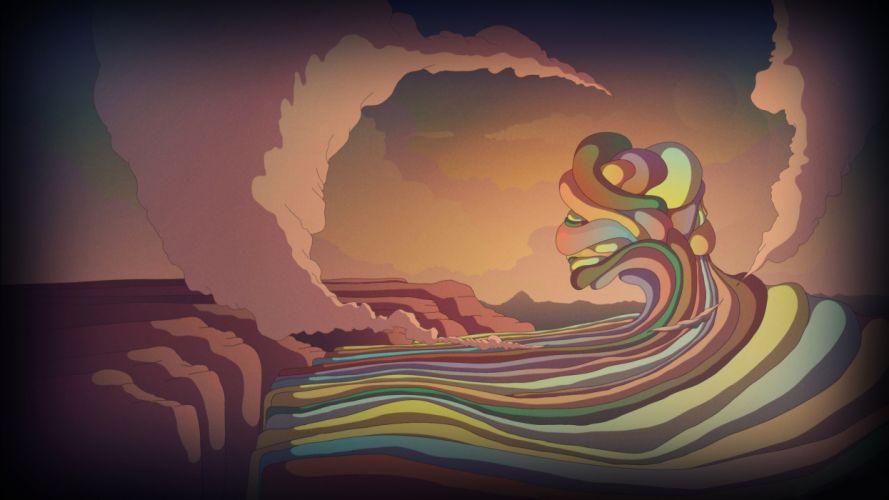 abstract texture surreal landscapes art smoke wallpaper