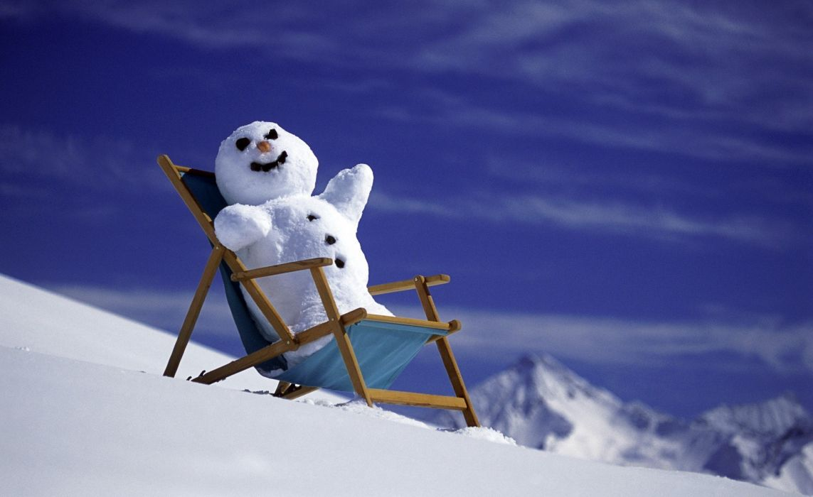 christmas new year winter snow snowman mountains wallpaper