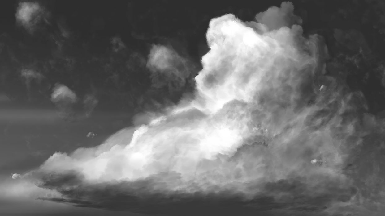 Clouds sky black white wallpaper