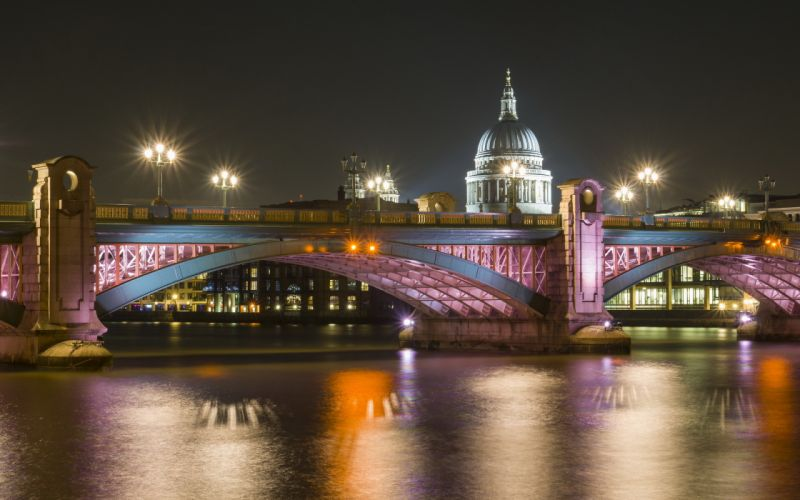 England London cities architecture buildings bridges rivers reflection hdr night lights wallpaper