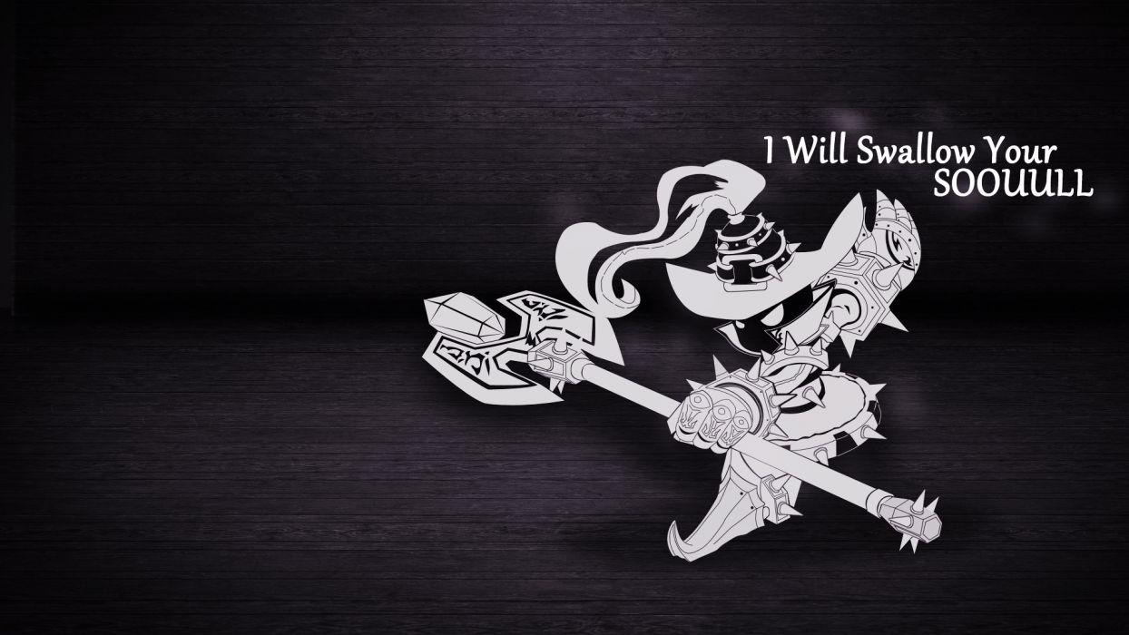 League of Legends Veigar fantasy warrior text statement quotes dark wallpaper